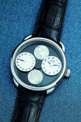 HERMÈS Arceau L'herure de la Lune月相腕錶 $219,900(隕石及砂金石錶盤版本各限量100枚)