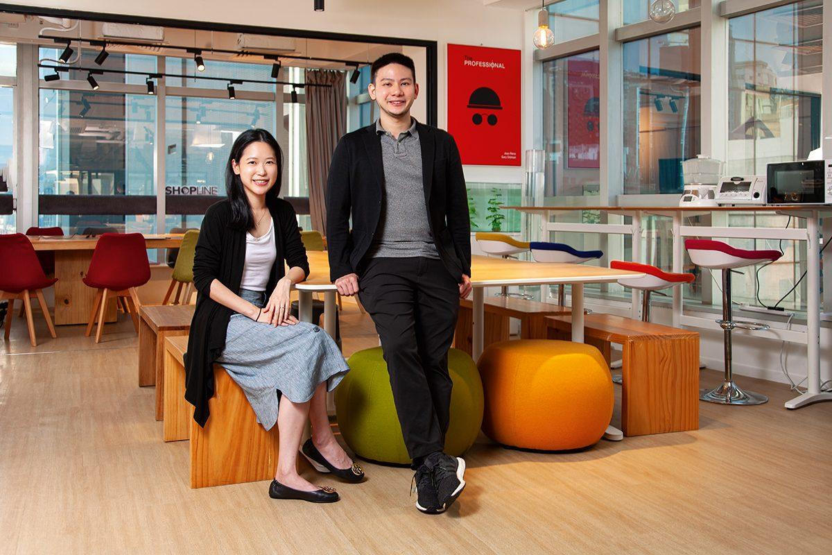 (左)劉煦怡 Fiona Lau(SHOPLINE 創辦人及COO)| (右)黃浩昌 Tony Wong(SHOPLINE 創辦人及CEO)
