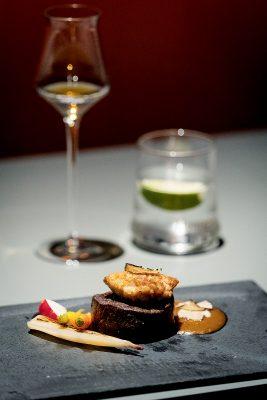 干邑與不同食物的配搭,也會刷出火花。圖為揭幕晚宴的主打菜式之一。