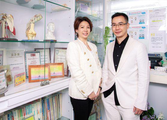 Okay Healthcare 創辦人余穎章與技術總監蔡家輝。