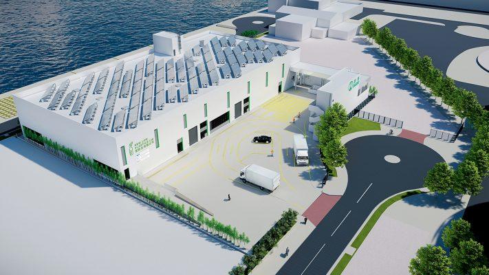 塑新生塑膠回收設施模擬圖,設施預計於2020年第三季投入服務。