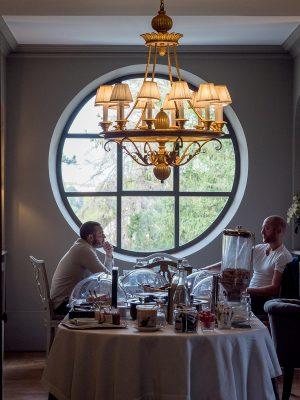 食早餐的餐廳十分有氣氛,是個人最喜歡的地方。