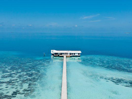 自成一角的海底豪華套房The Muraka,成為馬爾代夫最新人氣熱話。(Photoed by Justin Nicholas)。