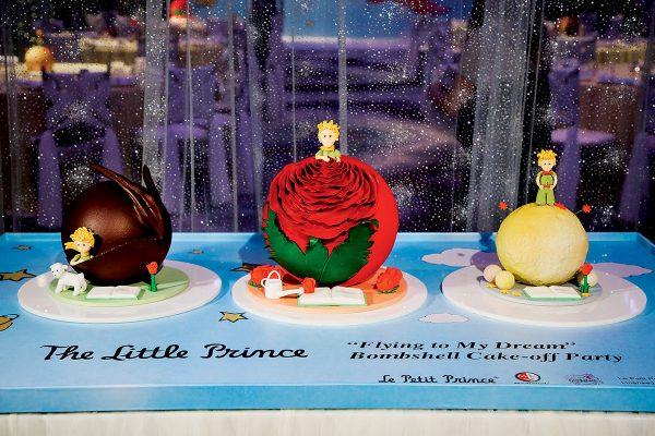 今年九月,《小王子》聯乘Bombshell推出的三款以「夢想啟航」為題的蛋糕。Bombshell是The Mira Hong Kong美麗華酒店旗下的獨立品牌,於今年初由徐子淇成立。