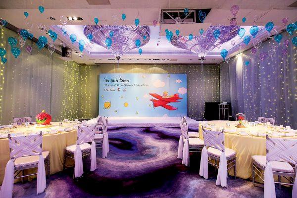 聯乘發佈會會場當中,以夢幻的派對佈置為裝潢,突顯《小王子》的童心主題色彩。
