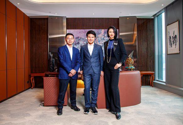 (左起)Club ZFU富馳薈總經理李贊東、Club ZFU富馳薈創辦人兼行政總裁楊凱文及Club ZFU富馳薈品牌總監李超。