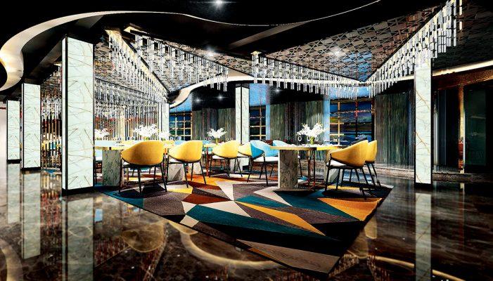 室內裝潢富麗典雅的ZFU Lounge。