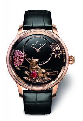 Jaquet Droz Petite Heure Minute 41毫米鼠年限量紅金、白金腕錶