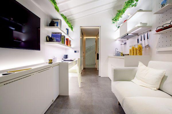 與室內設計師Gary Chang合作的智能蝸居。