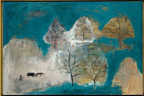 趙無極其中一幅作品:Sans titre Funérailles, 1949。Arthur和父親與趙無極份屬好友,對於趙無極的作品,他讚不絕口,鍾愛非常。