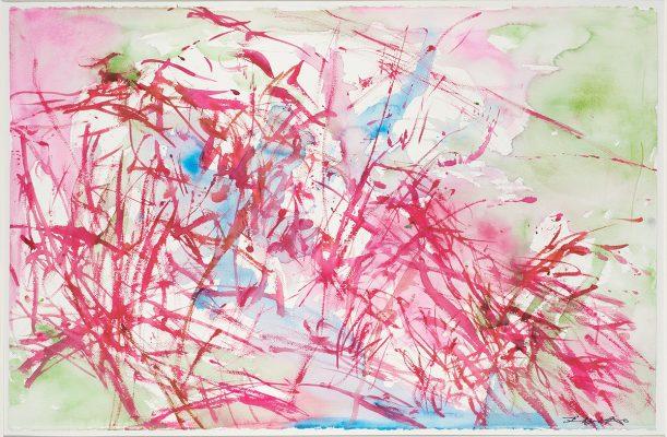 趙無極較晚年的作品:ST aqua, 2007。