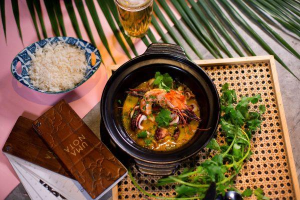 Uma Nota是主打巴西日本菜,菜式中有日本的食材元素,呈現的方式不難發現有著巴西的奔放色彩。圖為其中一道菜式Caldeirada。