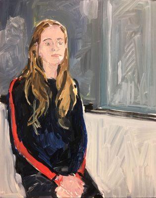 尚-菲利普·德洛姆 《Joséphine》, 2018 木板油畫 49.5 x 39.5 x 3 公分 | 19 1/2 x 15 9/16 x 1 3/16 英吋 圖片提供:藝術家與貝浩登