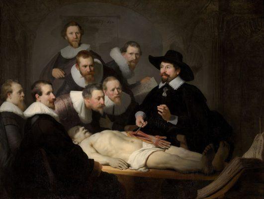 《尼古拉斯・杜爾博士的解剖學課》,1632年作