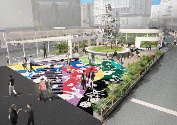 「Shinjuku East Square」是松山又一個充滿野心的公共藝術項目。(照片由藝術家提供)