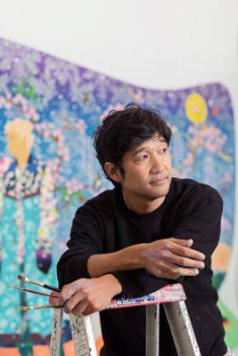 出生於日本的松山智一,現於紐約生活和工作。