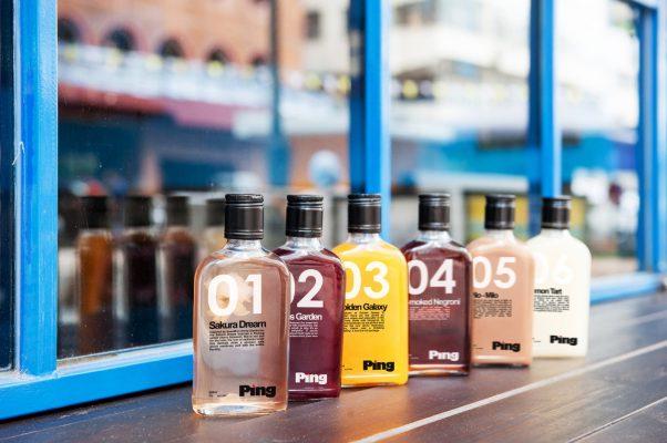 由Sonic Chan花心思調製的六款口味瓶裝雞尾酒。