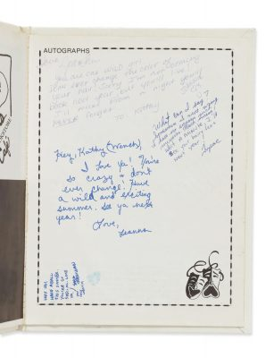 Kathy Loy Yearbook Signed by Tupac Shakur
