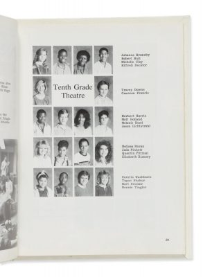 Kathy Loy Yearbook, Tenth Grade Theatre Class