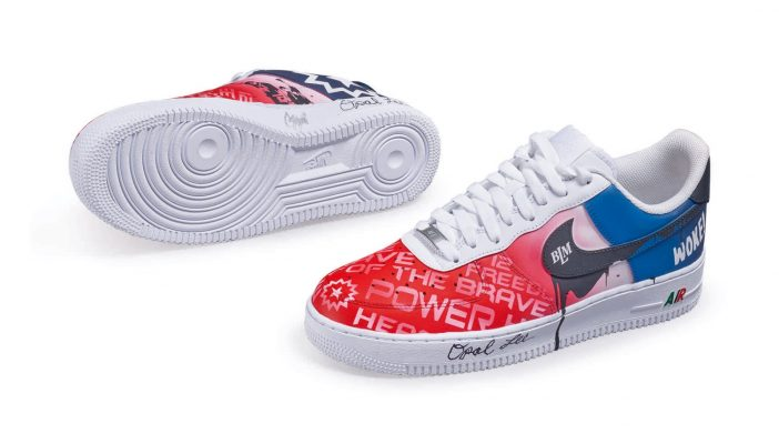 Custom Juneteenth Nike Air Force 1s - A Niko Brim, Ms. Opal Lee and Sierato Collaboration
