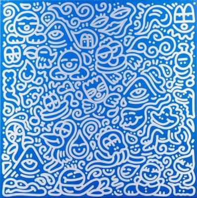 另有以著名英國畫家Mr. Doodle的作品「山頂休憩」為該次聯合拍賣的其中一幅拍品。