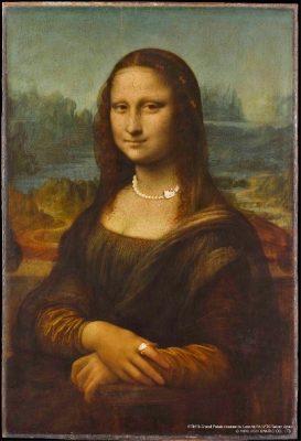 蒙娜麗莎 Leonardo da Vinci李安納度.達文西 (1452-1519):蒙娜麗莎的意思是「麗莎夫人」,文藝復興時期畫家達文西的代表作,也是世界上知名度最高的油畫。畫中女子神秘的微笑,獨特的眼神描繪,讓觀眾感覺她的視線似乎在不同角度都直視著你。 戴上了Hello Kitty珠寶的蒙娜麗莎,彷彿賦予了另一種現代的風采。