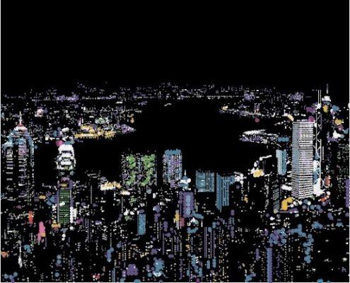 大村雪乃過往曾以香港太平山著名夜景及彌敦道霓虹招牌為作品主題,是次活動,這兩幅經典作品以發光燈箱製作,凸顯香港聞名中外的繁華夜景。