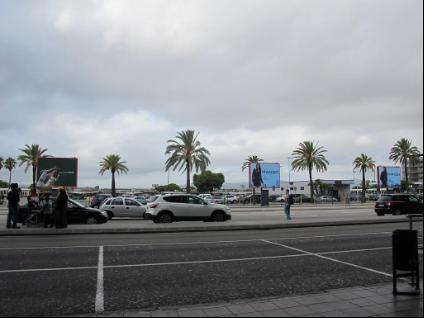 巴塞隆拿埃爾普拉特機場外的景色