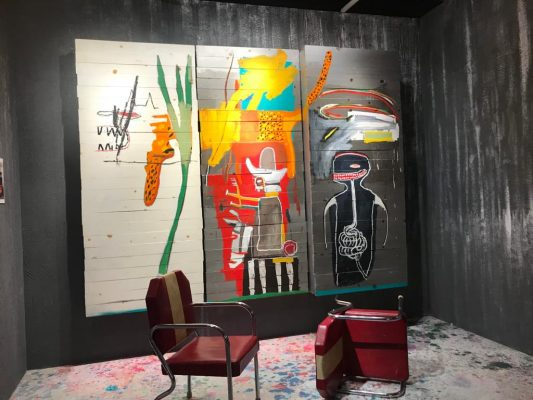 尚 · 米榭 · 巴斯基亞(Jean-Michel Basquiat)於1985年創作的《無題》。