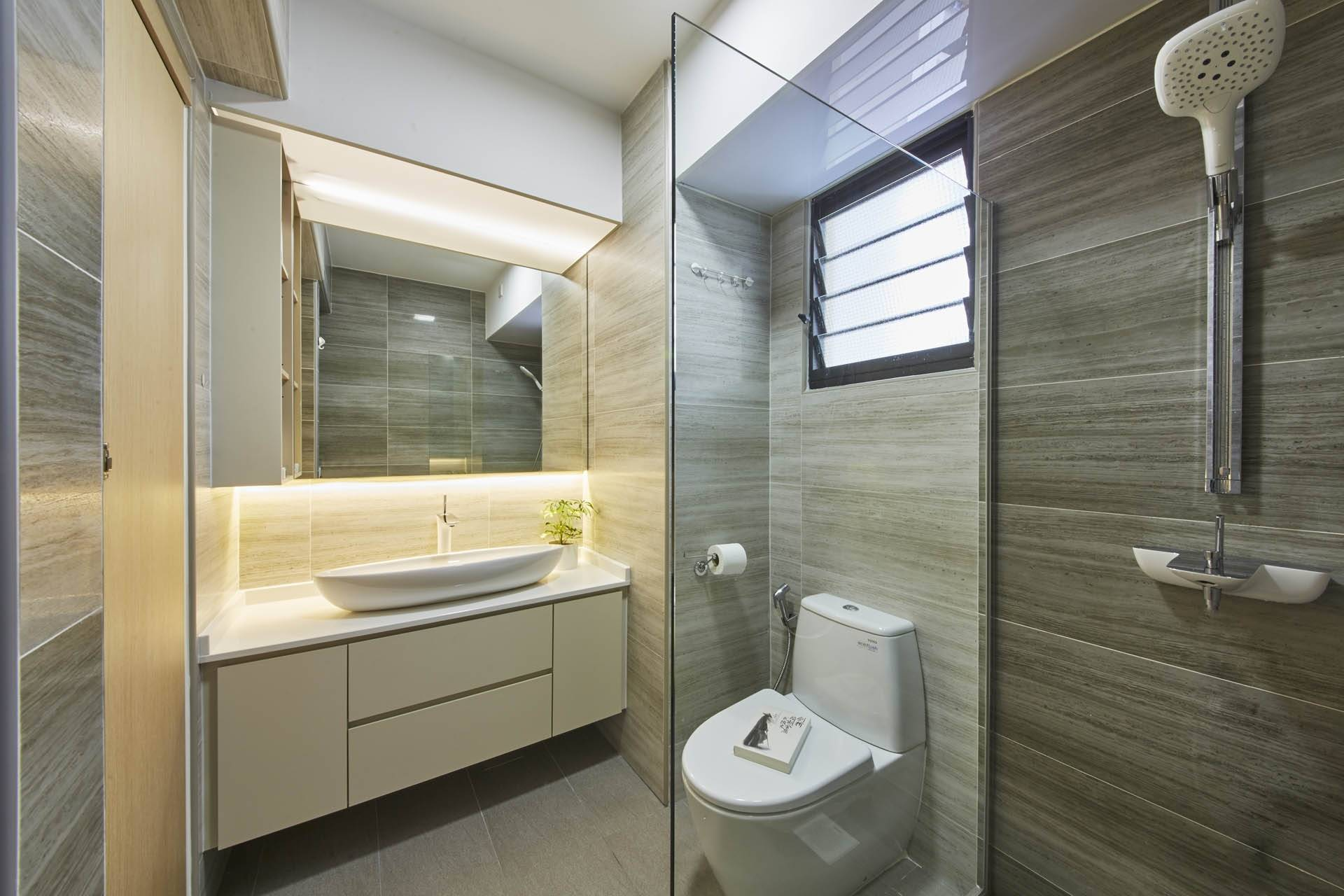 Hdb bathroom design for Bathroom and toilet designs