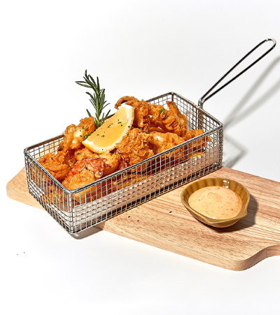 Mixed Seafood Fries with Garlic Mayo