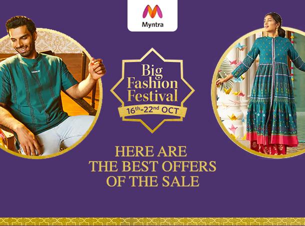 Myntra Big Fashion Festival Offers