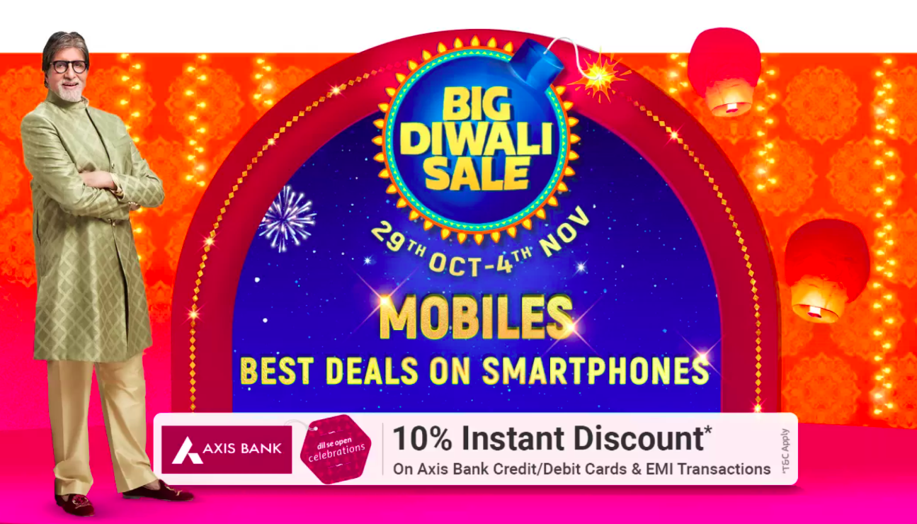 flipkart big diwali sale on smartphone