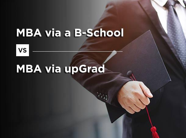 MBA B School VS MBA upGrad