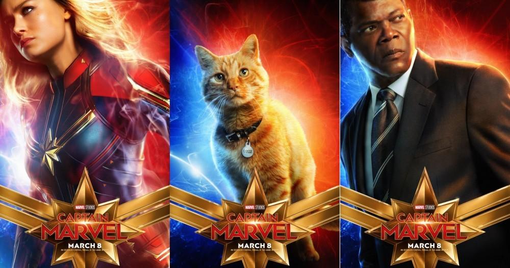 貓咪也變身漫威英雄了!?眾所期待的『驚奇隊長』最新角色海報釋出,驚見帥萌『大橘貓』化身電影主角~