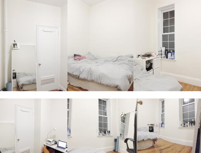전체적인 사진 입니다. 사진에서 보이는 것처럼 천장이 높고 쾌적한 느낌이 드는 방입니다.