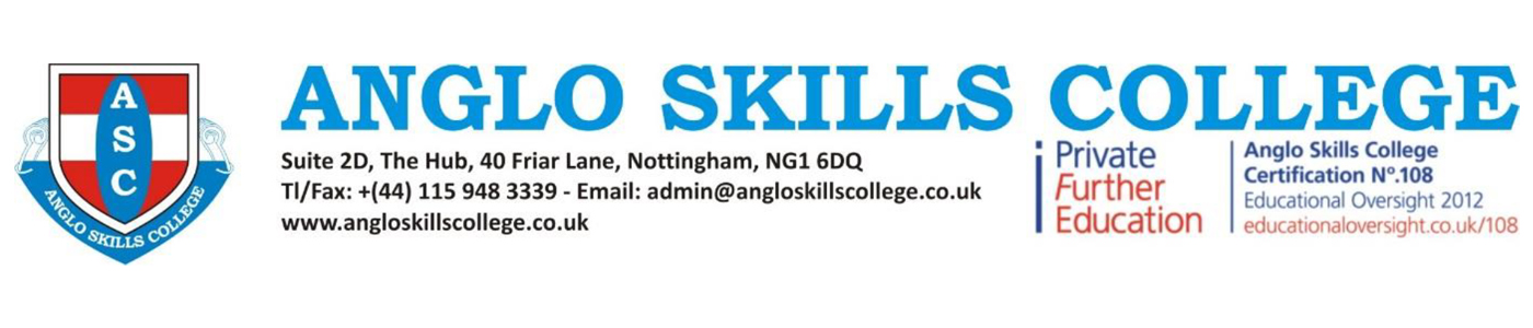 Anglo Skills College banner