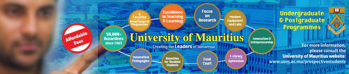University of Mauritius banner