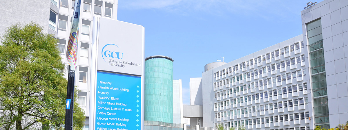 Glasgow Caledonian University banner