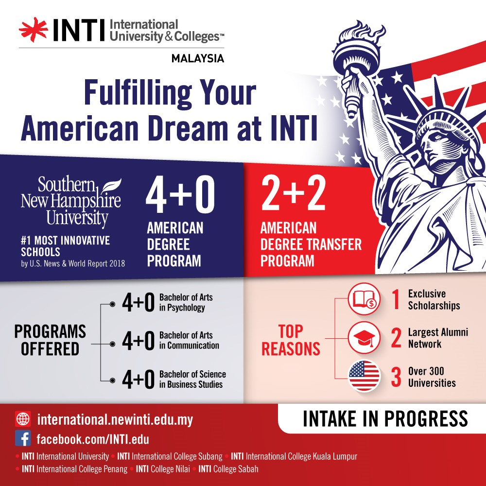 INTI INTERNATIONAL UNIVERSITY & COLLEGES banner