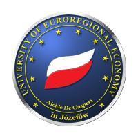 WSGE Alcide De Gasperi University of Euroregional Economy in Jozefow-Warsaw (Poland) logo