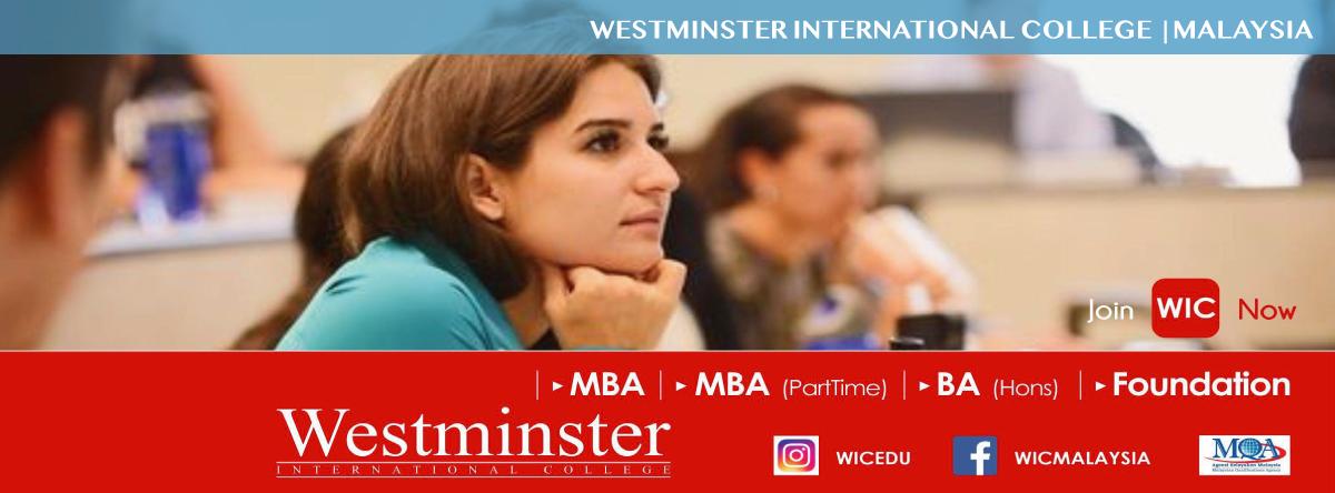 Westminster International College banner