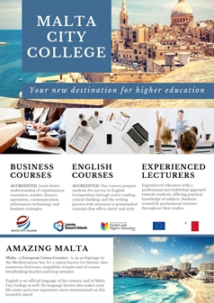 Malta City College banner