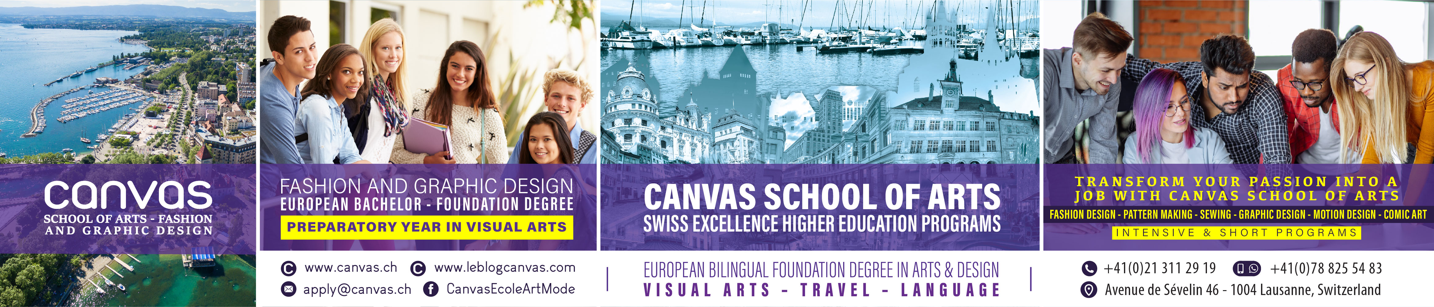 Canvas School of Arts banner