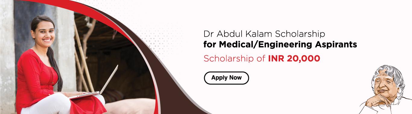 Dr Abdul Kalam Scholarship for Medical/Engineering Aspirants
