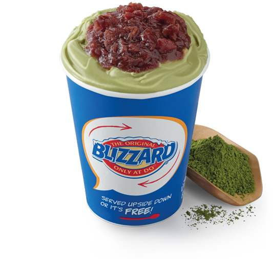 Green Tea Red Bean Blizzard