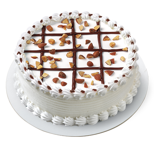 Almond Ice Cream Cake