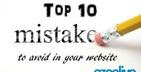 Ezeelive Technologies India - top ten mistake to avoid in your website
