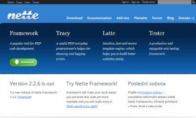 NETTE PHP Framework