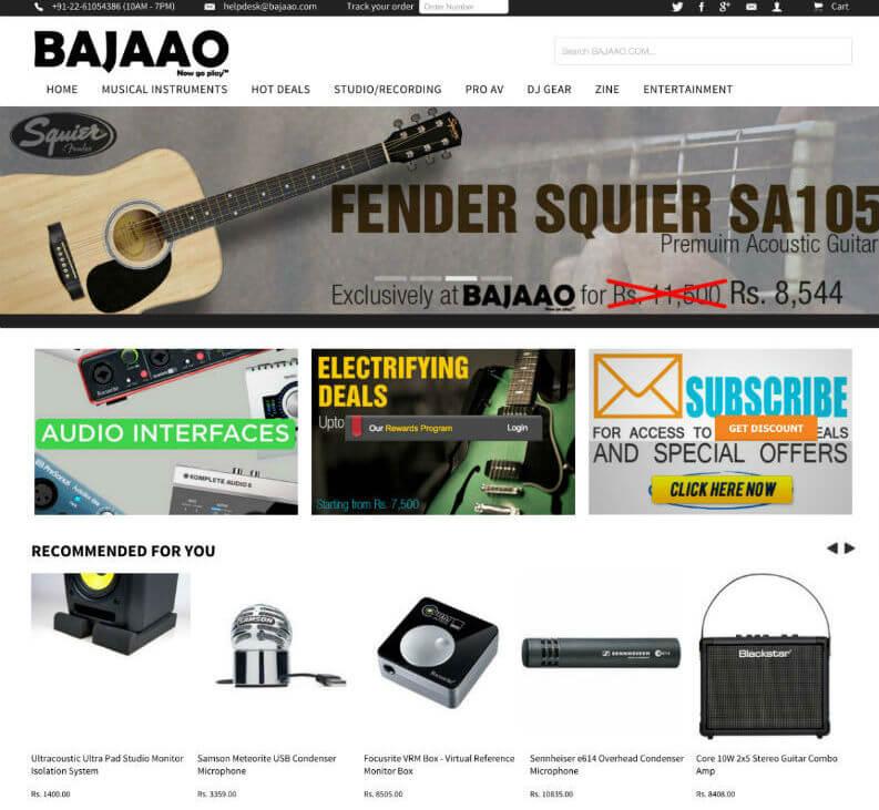 music instrument ecommerce portal developer india